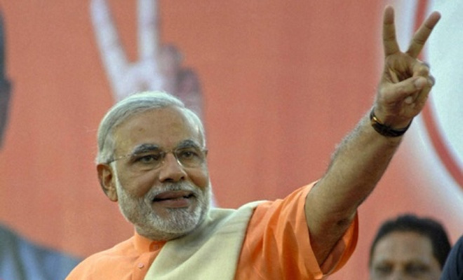 Indian PM-designate gets warm welcome