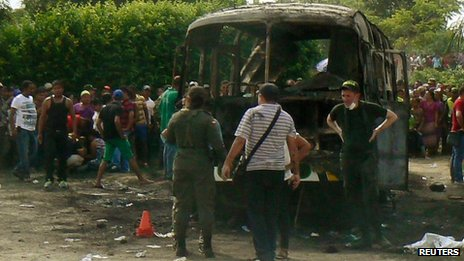 Colombia church bus fire kills 31 children, one adult