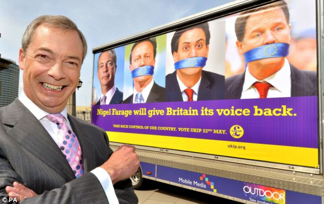Support for Britain's anti-EU UKIP hits record high