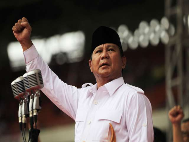 Indonesia ruling party sides with presidential hopeful Prabowo
