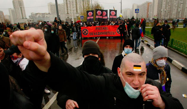 Russian right-wing extremists kill 600 in decade