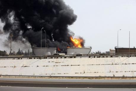 Libya calls for help to put out oil terminal fire
