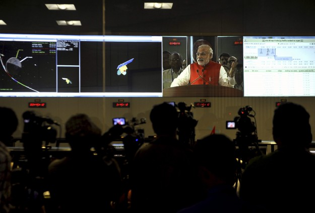 India triumphs in Mars mission, sets record in space race