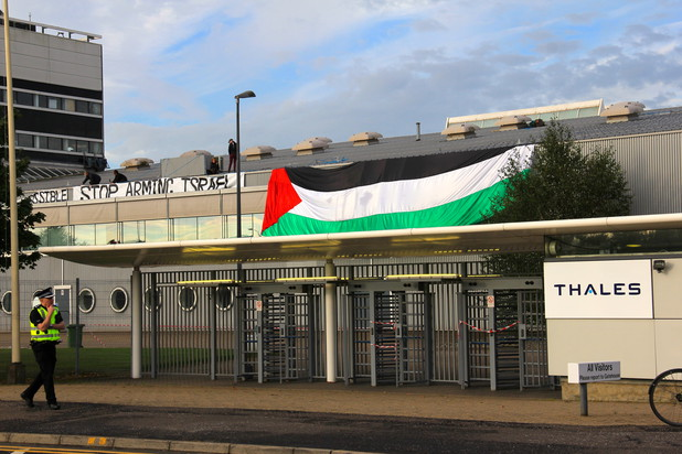 Scottish pro-Palestine protesters occupy arms factory