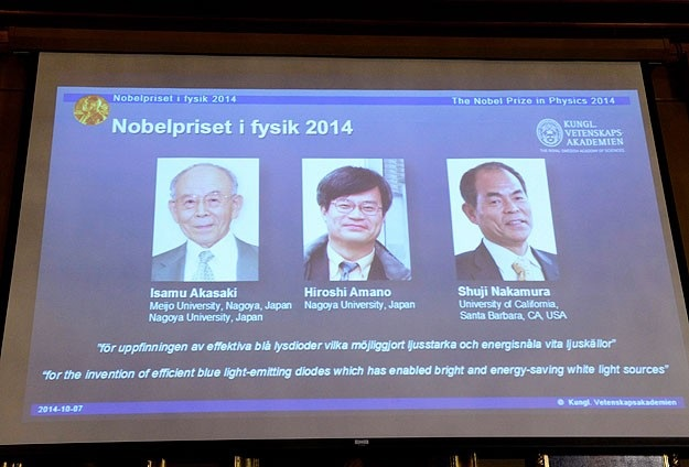 Japanese, US scientists win Nobel for LED invention