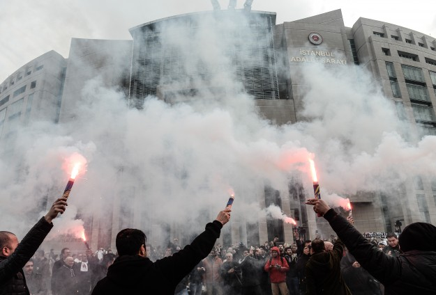 Football fans on trial for trying to 'oust' Turkish gov't