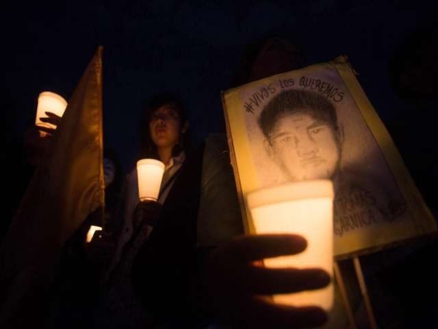 Mexico marchers continue 3 months after students disappeared