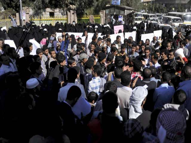 Hundreds protest in Sanaa for Houthi departure