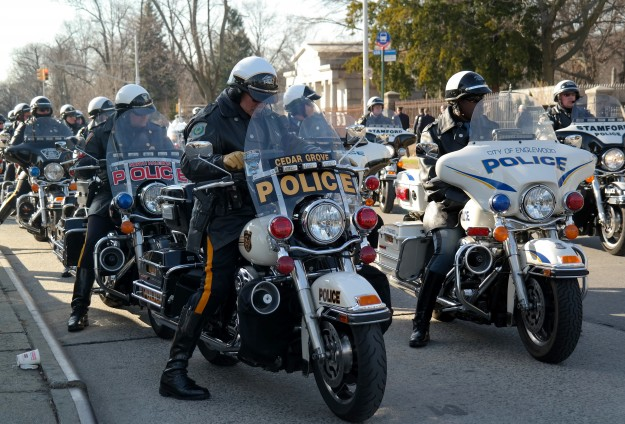 Funeral for US police officer attended by thousands