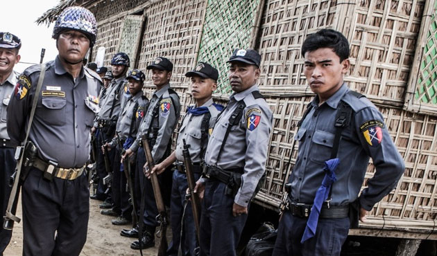 Rare move sees Myanmar police held for suspect's death