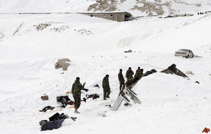 Avalanches kill 186 in Afghanistan