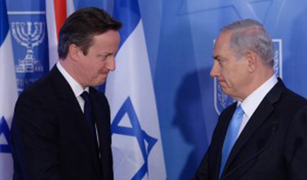 Cameron pressures Netanyahu for two-state solution
