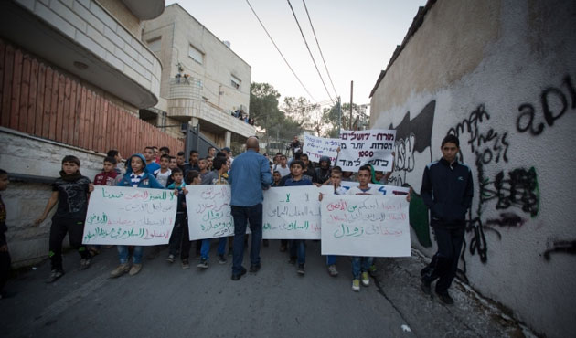 Palestinians shout out against Israel's blockade