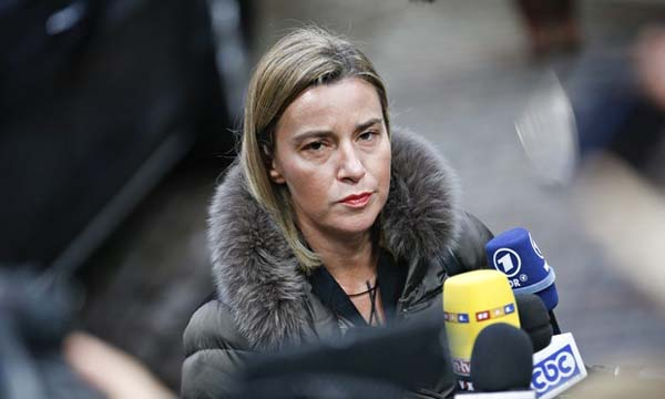 EU foreign policy chief urges talks over Jerusalem