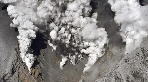 Japanese volcano erupts, residents evacuated