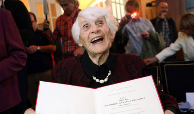 102 year old women gets Phd blocked by Nazis