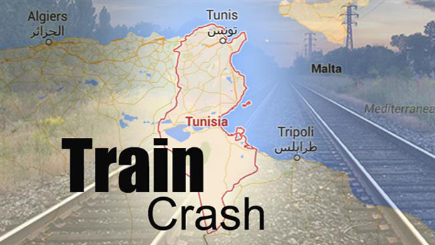 Train collides with truck in Tunisia, at least 17 dead
