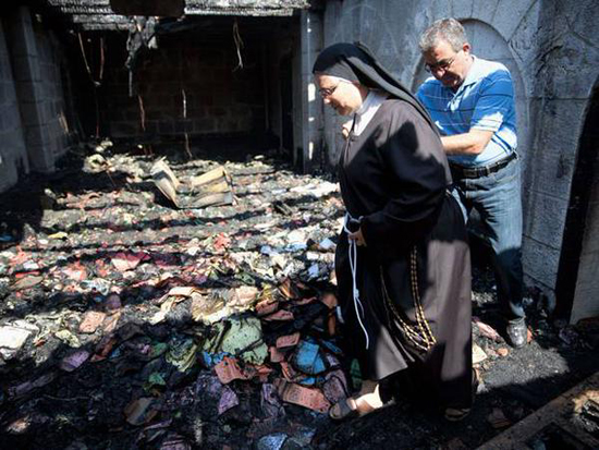 Israel frees young extremists who burnt Galilee church