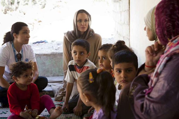 Angelina Jolie arrives in Turkey to meet Syrian refugees