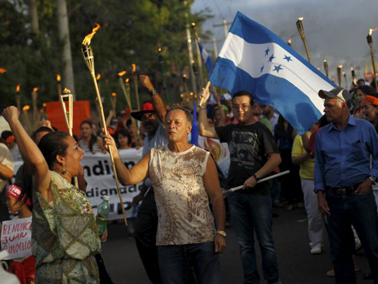 Honduras opposition demands annulment of president's re-election