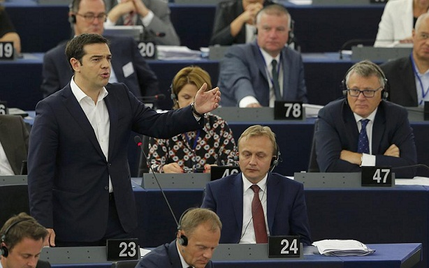 Tsipras calls for fair deal in EU parliament