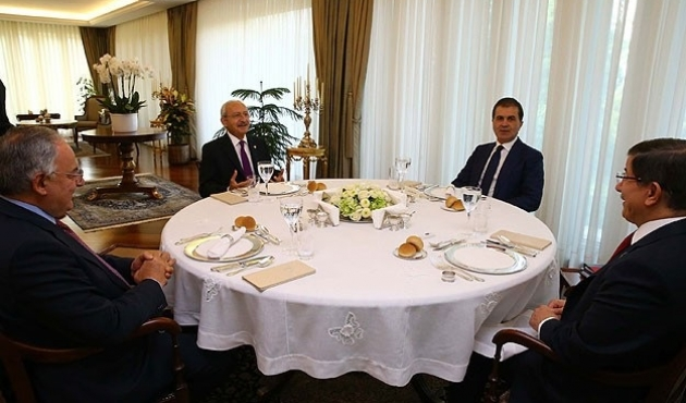 Turkey's AK Party, CHP leaders meet in coalition talks