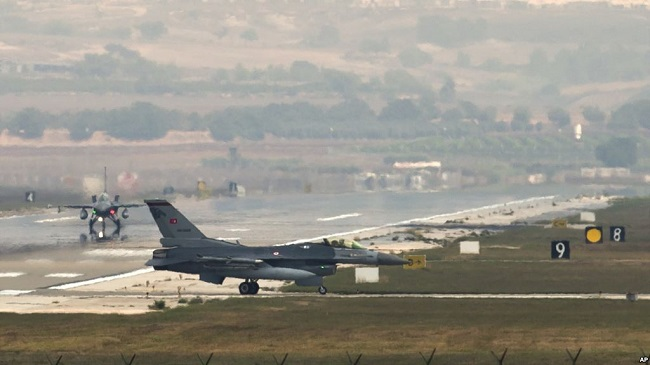 Fighter jets from Incirlik base didn't raid Syria on Aug 11