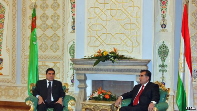 Tajik, Turkmen presidents discuss security