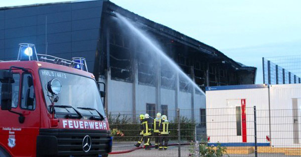 Arson attack in refugee shelter near Berlin