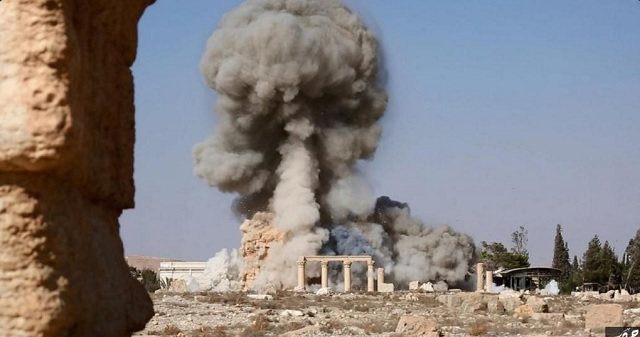 ISIL publishes images of Palmyra temple destruction