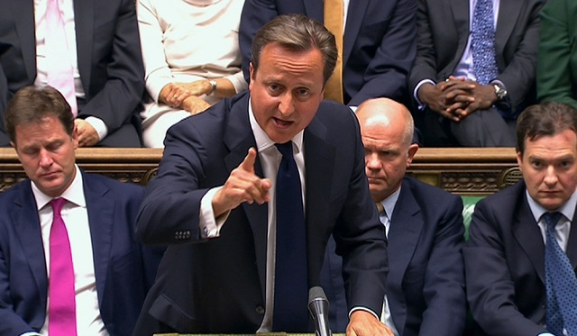Cameron warned off air strikes in Syria