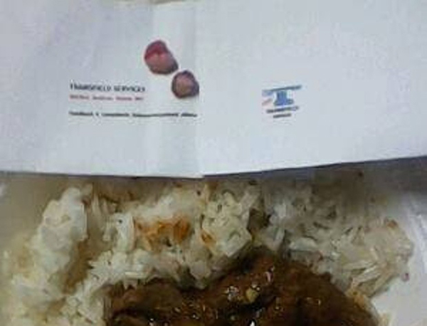 Human teeth found in meal served to refugees