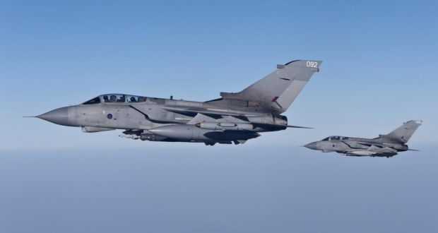 UK air force strikes ISIL supply lines