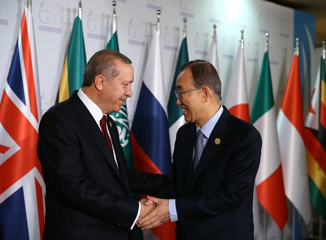 UN chief thanks Turkey for hosting Syrian refugees