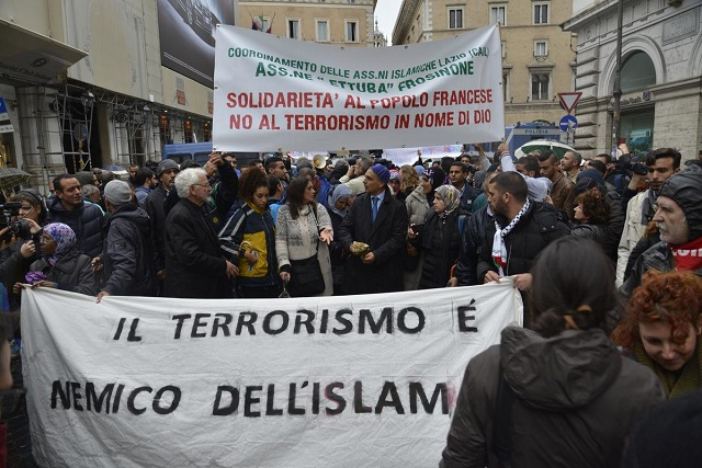Muslims in Italy rally against terrorism