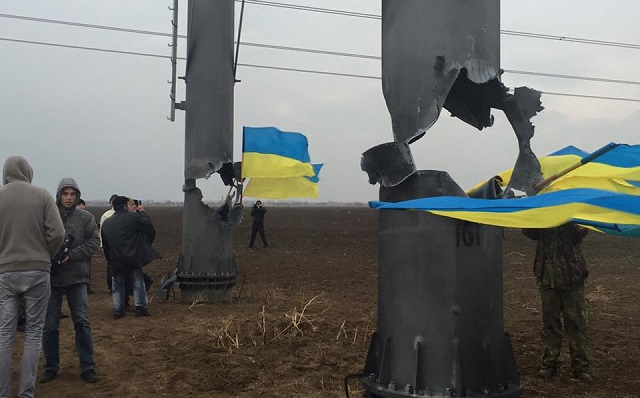 State of emergency in Crimea as power lines 'blown up'