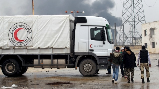 First UN aid delivery in Syria since truce started