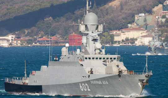 Russia launches cruise missiles from Mediterranean