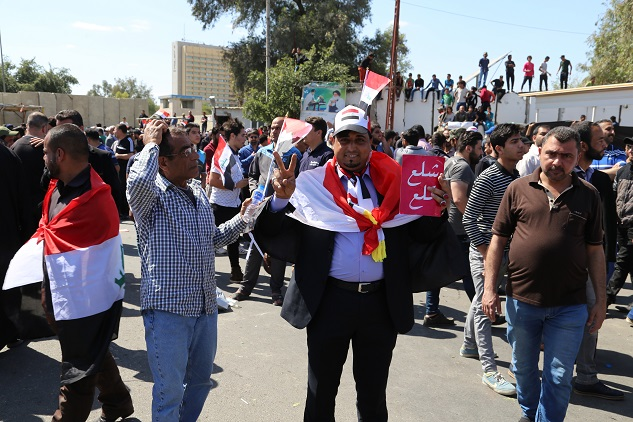 For 3rd day, Sadrists rally near Baghdad's Green Zone