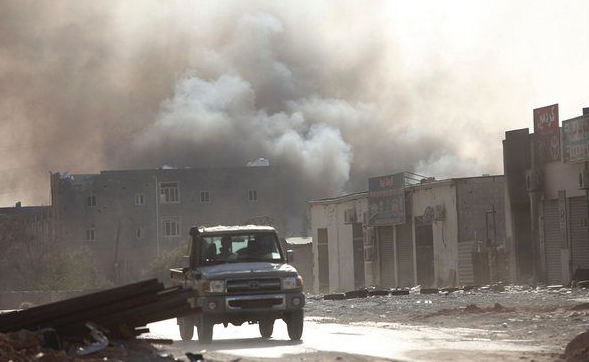 7 dead in clashes west of Libyan capital