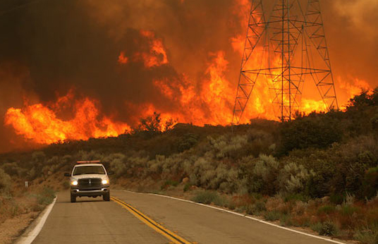Thousands evacuated in California fires