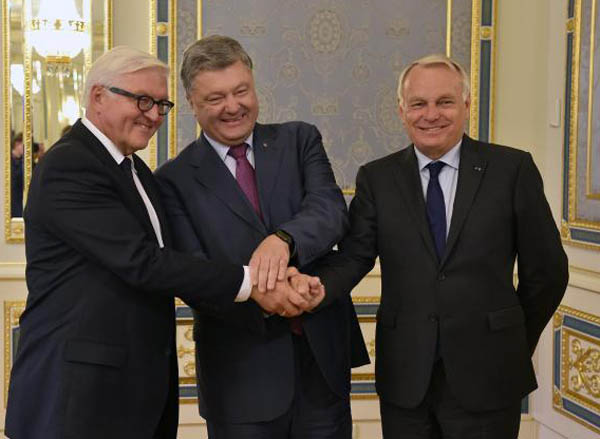 German, French FMs make first visit to war-torn east Ukraine