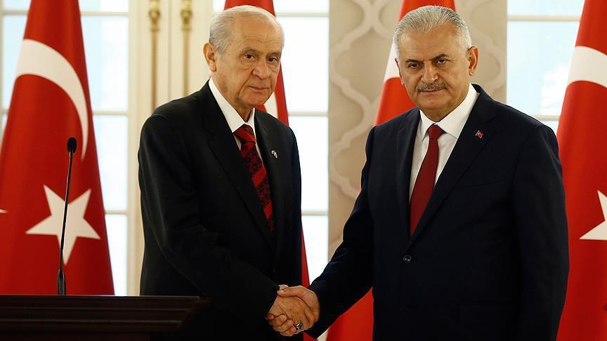 Turkish PM meets opposition MHP leader