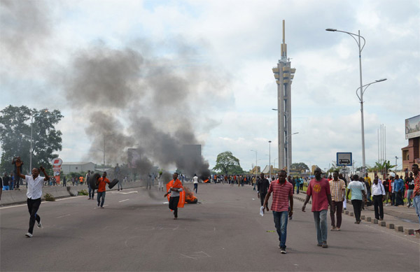 Police fire shots in DR Congo unrest