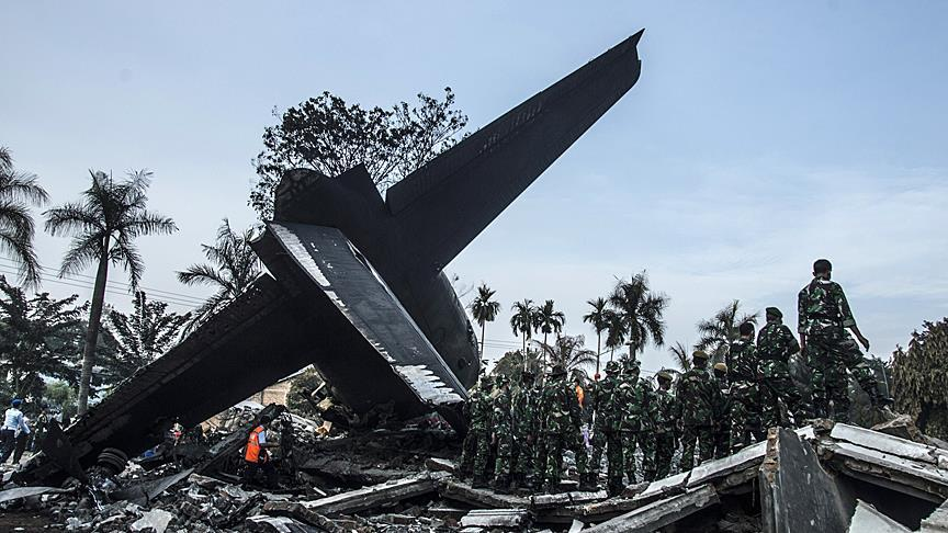 13 dead after Indonesian military plane crashes