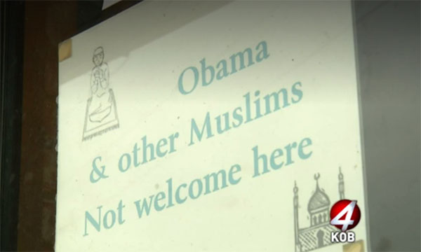 US store draws outrage over 'no Muslims' sign