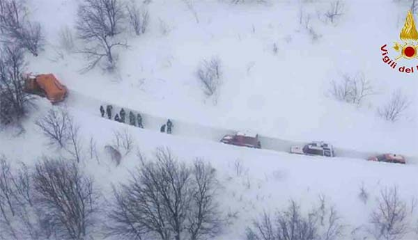 Italy avalanche death toll rises to 29