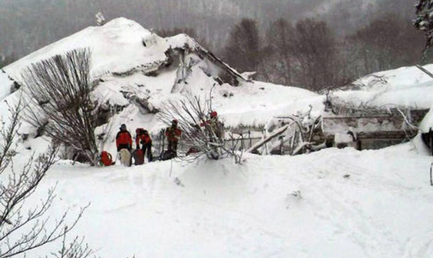 Italy avalanche: 6 dead, 23 missing