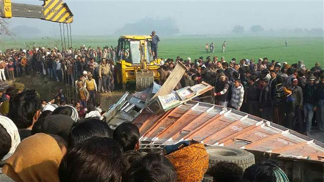 36 killed in southeast India as train derails