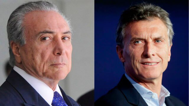 The presidents of Brazil and Argentina to talk trade
